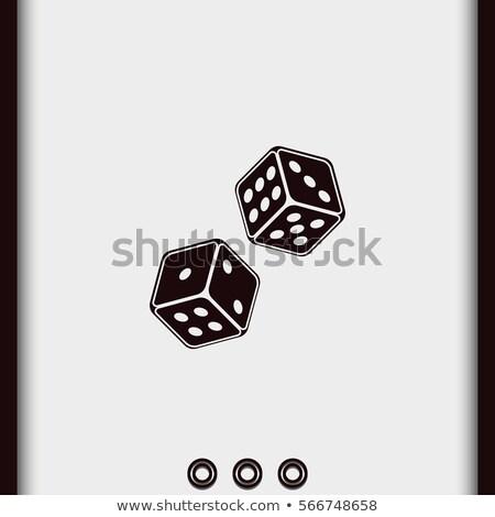 twee · witte · leuk · Rood · gezichten · casino - stockfoto © sarts