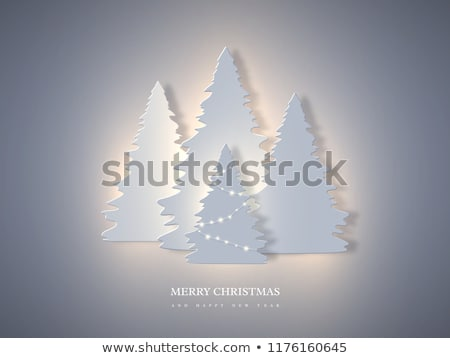 creative christmas tree design in paper cut style Stock photo © SArts