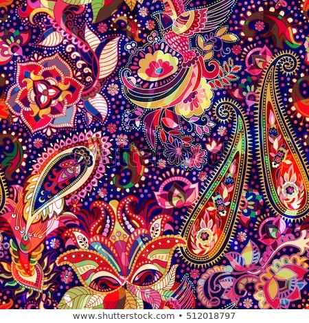 ярко цветочный бесшовный вектора шаблон индийской Сток-фото © maia3000