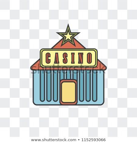 Kaszinó ikon izolált átlátszó chip póker Stock fotó © Iaroslava
