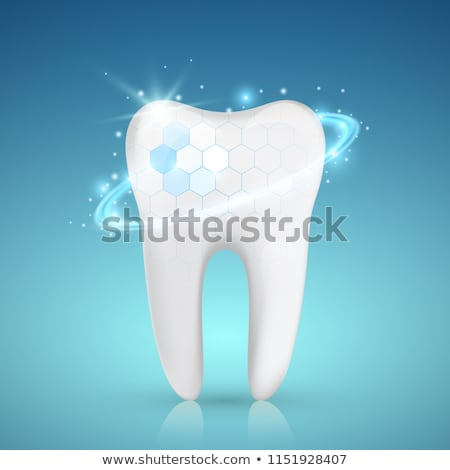 Tooth with caries and healthy tooth Stock photo © Tefi