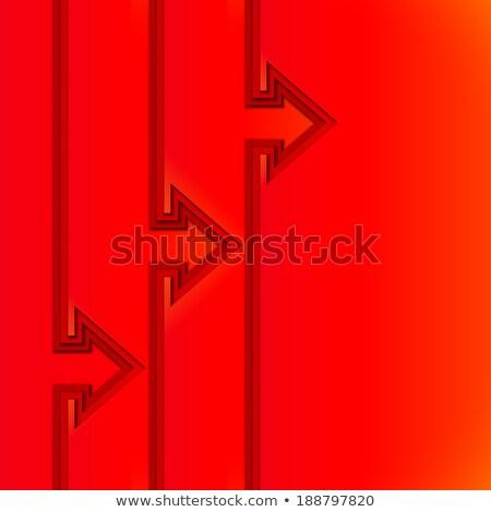 Színes emelkedő nyilak piros vág papír Stock fotó © SwillSkill
