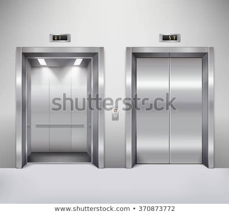 エレベーター リフト 閉店 金属 ドア ボタン ストックフォト © dolgachov