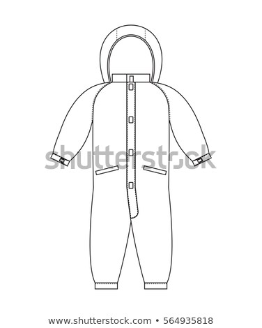 Rompers template scheme. Childrens clothing line style Stock photo © popaukropa