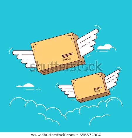 パッケージ 速達便 ベクトル 漫画 面白い 着陸 ストックフォト © pcanzo