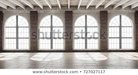 Muur venster plaats verweerde houten plank Stockfoto © Taigi
