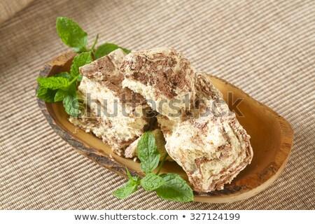 Márvány szezám cukorka édes görög senki Stock fotó © Digifoodstock