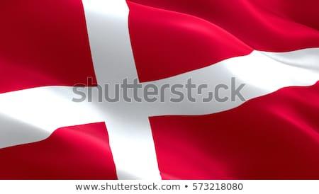 текстильной флаг красный белый стране материальных Сток-фото © kb-photodesign