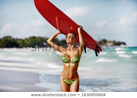 Model with a perfect beach body Stock photo © Anna_Om