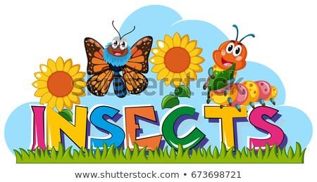 dez · lagarta · ilustração · crianças · natureza · criança - foto stock © bluering