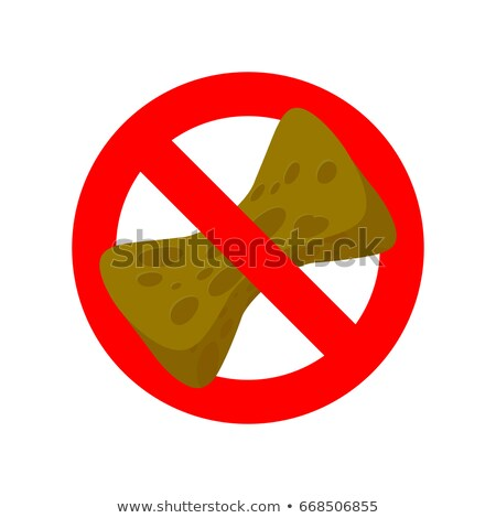 Stop old sponge. It is forbidden to use sponge for washing. Red  Stock photo © MaryValery