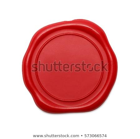 kırmızı · balmumu · mühürlemek · damla · yalıtılmış · beyaz - stok fotoğraf © kayros