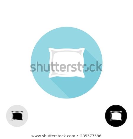 Zdjęcia stock: Projektu · poduszkę · ikona · meble · kolor · biały