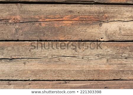 Kaba eski rustik ahşap çatlaklar Stok fotoğraf © stevanovicigor