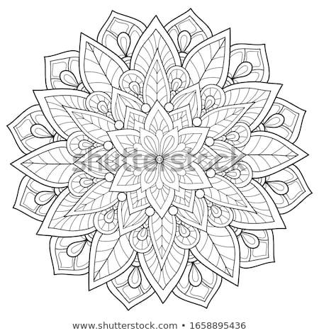 Mandala Boyama Kitabi Dekoratif Sus Tedavi Vektor