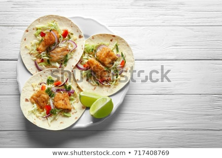 Sliced lime on a wooden plate  Stock photo © gravityimaging
