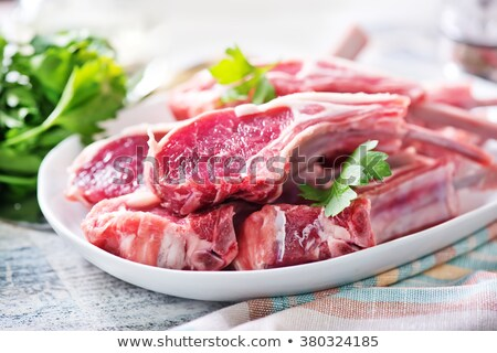 fresh meat ready to cook with Ingredient - background Stock photo © kayros