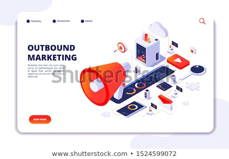 Contenu marketing portable écran 3d illustration Photo stock © tashatuvango