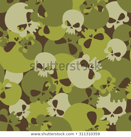Military texture skull. Army Skeleton seamless texture. Soldiers Stock photo © popaukropa