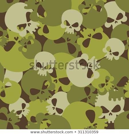 軍事 テクスチャ 頭蓋骨 軍 スケルトン シームレス ストックフォト © popaukropa
