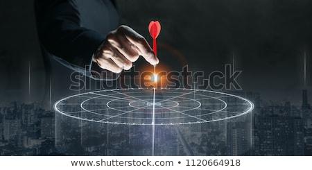 üzlet fókusz siker csoport elveszett darts Stock fotó © Lightsource