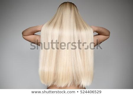 moda · modelo · longo · cabelos · lisos · isolado · branco - foto stock © igor_shmel