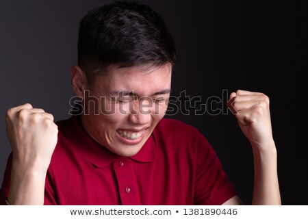 Powerful handsome man screaming very loud Stock photo © majdansky