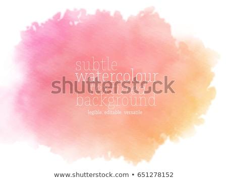 Stok fotoğraf: Parlak · pembe · turuncu · suluboya · sıçrama · vektör