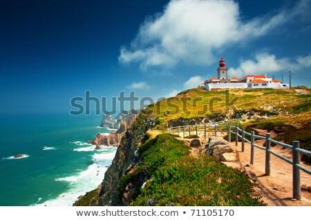 Red Lighthouse At Cape Cabo Da Roca, Portugal Stock photo © vlad_star