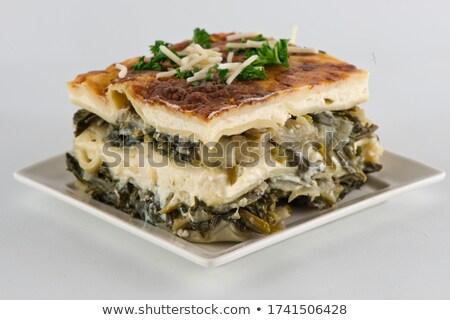 Lasanha carne molho comida jantar Foto stock © M-studio