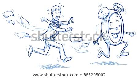 Klok tijd druk vrouw runner racing Stockfoto © Krisdog