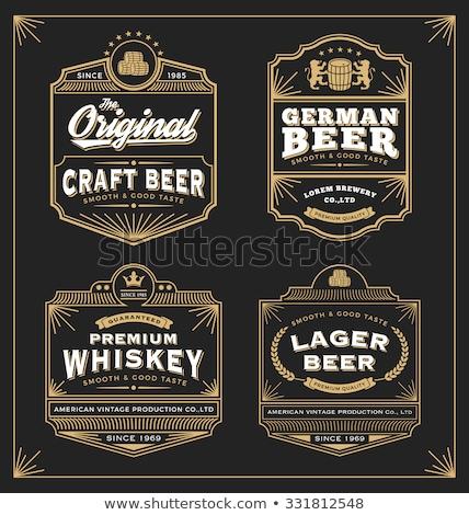 vintage · marco · etiqueta · whisky · producto - foto stock © reftel