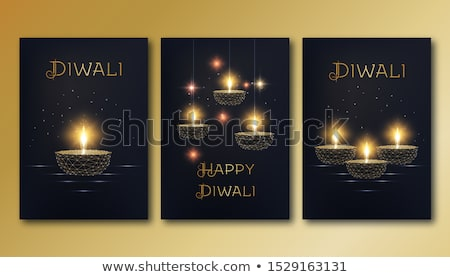bright diwali sale poster design with hanging lamps stock photo © sarts