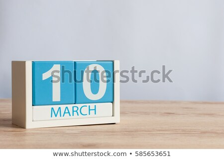 cubes 10th march stock photo © oakozhan