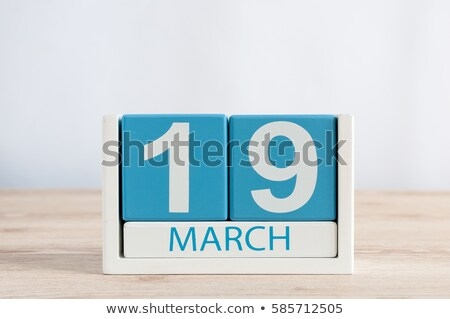 Cubes 19th March Stock photo © Oakozhan