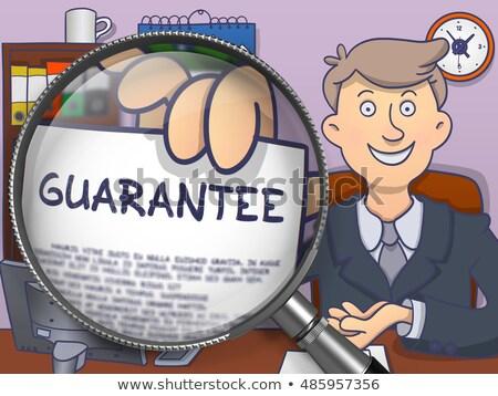 Obiektyw gryzmolić stylu człowiek biznesu na zewnątrz papieru Zdjęcia stock © tashatuvango