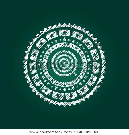 new goals concept green chalkboard with doodle icons stock photo © tashatuvango