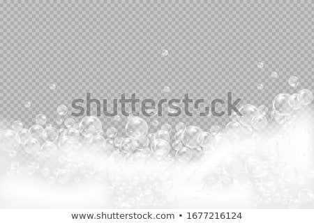 soap foam on a blue background Stock photo © OleksandrO