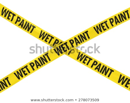Wet Paint Yellow Barrier Tape Stock photo © njnightsky