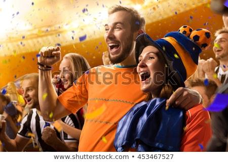szeretet · futball · futball · férfi · rúg · labda - stock fotó © rogistok