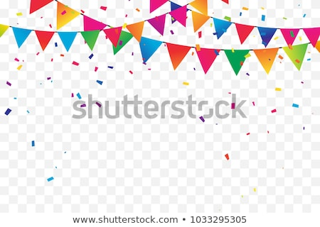 colorful flags with confetti background vector stock photo © andrei_