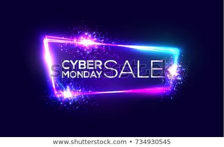 Cyber Monday Sale 3D Sign Stock photo © Krisdog