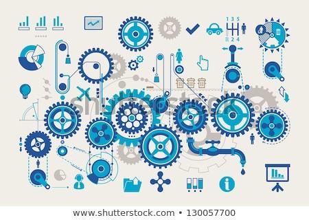 gear wheels info graphic stock photo © opicobello