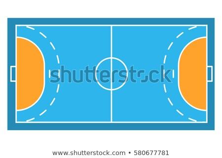 ハンドボール · 裁判所 · 孤立した · 白 · スポーツ · フィールド - ストックフォト © kup1984