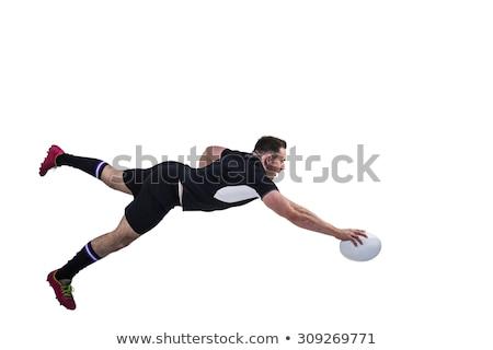 Rögbi játékos férfi energia kék ég mozgás Stock fotó © IS2