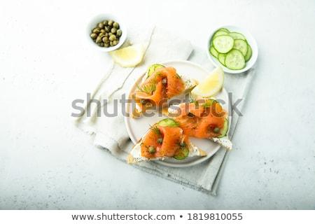 закуска огурца сыра лосося продовольствие свежие Сток-фото © M-studio