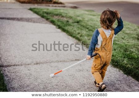 çocuk kör erkek öğrenci örnek Stok fotoğraf © lenm