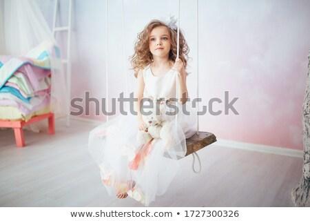 девочку Swing иллюстрация девушки ребенка Сток-фото © bluering