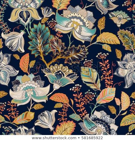 Floral Fanfare orientalisch ethnischen abstrakten Stock foto © Terriana