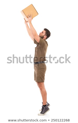man putting shot with arm raised Stock photo © IS2
